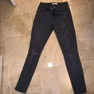 Grey pacsun ripped jeggings
